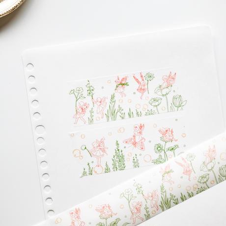 イラスト マスキングテープ floral fairy [AZ233]