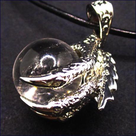 ドラゴンの爪パワーストーンネックレス(水晶)U0002