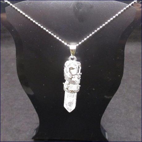 ドラゴンラップパワーストーンネックレス(水晶)U0128