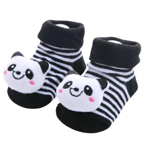 赤ちゃん用すべり止め付き靴下(パンダ)U0117