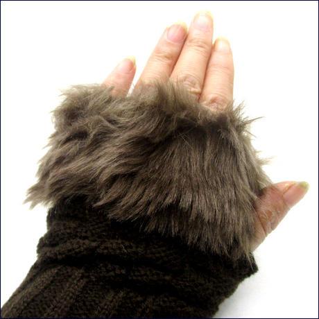 指なしファー手袋 U0113