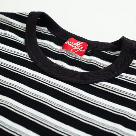 nuttyclothing  / Multi Border Pocket L/S T-Shirt  Black