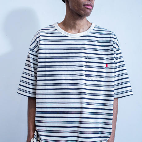 nuttyclothing  / Multi Border Pocket T-Shirt