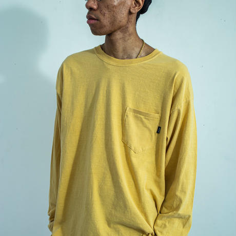 nuttyclothing / Garment die Pocket LongSleeve T-Shirt
