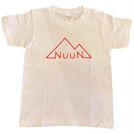 Kid☆NuuN Original T-shirt WHITE-蛍光オレンジロゴ-