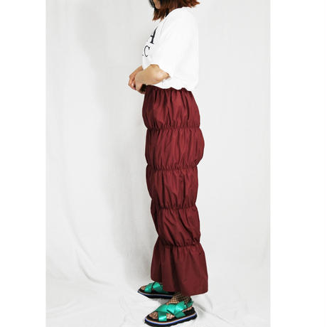 shirring  skirt  (burgundy)