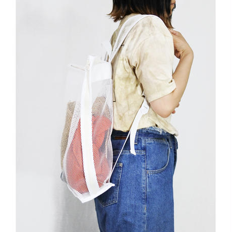 mesh back pack (white)