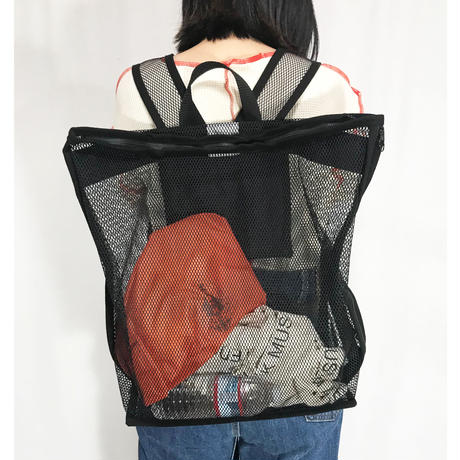 mesh back pack (black)
