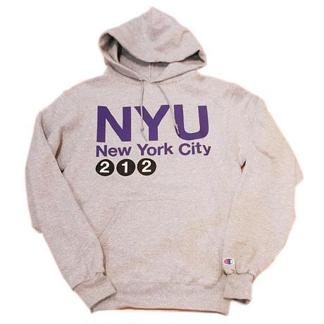 NYUニューヨークユニバーシティOFFICIAL NYU×Champion hoody エコフリースパーカーUS Champion 限定