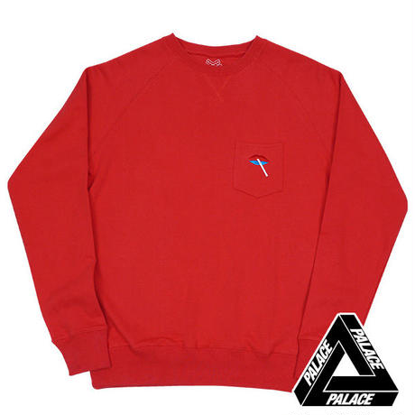 PALACE Skateboardsパレススケート LIPS CREW RED