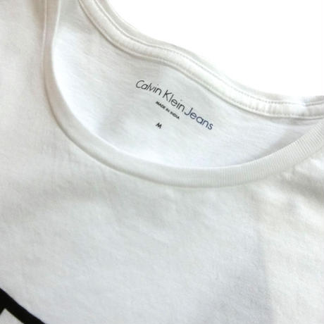 Calvin klein jeans カルバンクラインジーンズ reissue Logo tee ホワイト