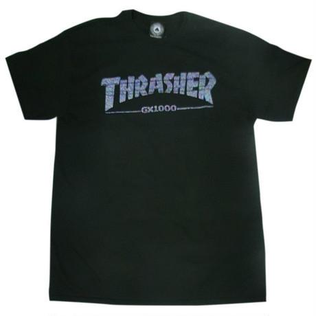 THRASHER×GX1000 S/S TEE ブラック 限定コラボ