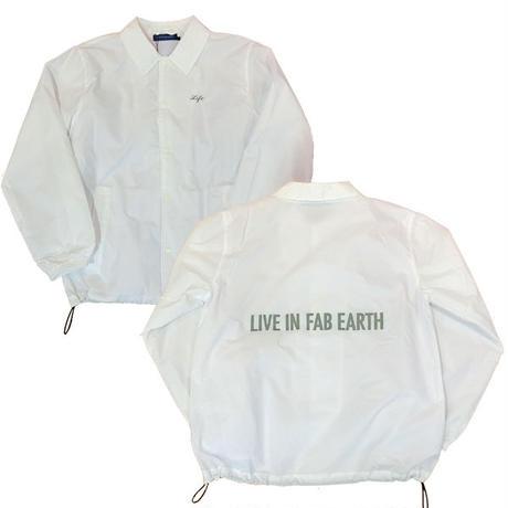 40%OFF! L.I.F.E [ LIVE IN FAB EARTH ]リブインファブアース(ライフ)LFコーチジャケットホワイト