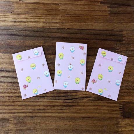 インコさんシリーズ ぽち袋  3枚入「インコさん」