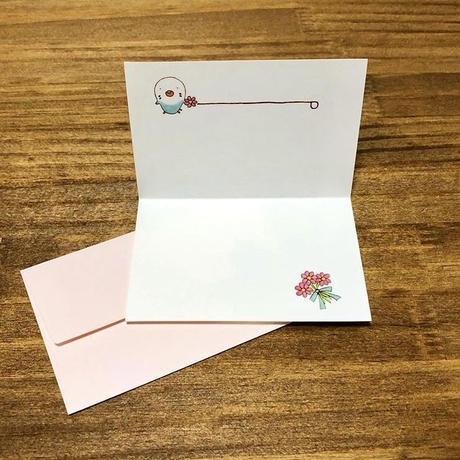 インコさんメッセージカード「感謝の気持ちでいっぱいです」