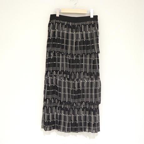tranoi ドットプリントスカート( black×black, black×white )