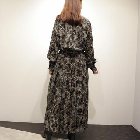 tranoi プリントスカート(black,brown)