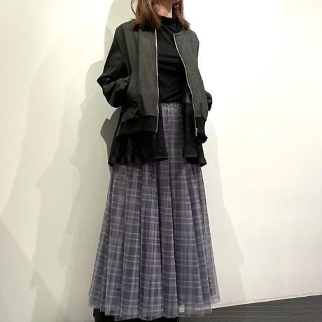 tranoi レースブルゾン ( ブラックデニム/デニム )