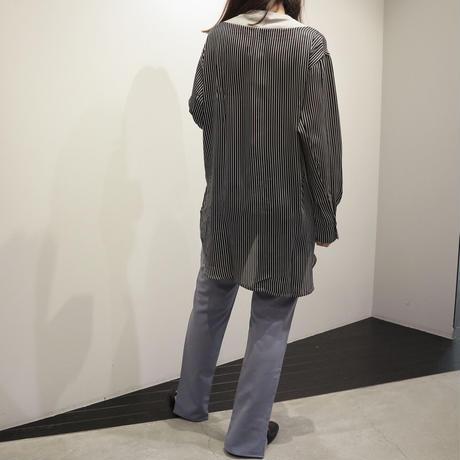tranoi 切り替えカットソー (gray, black)