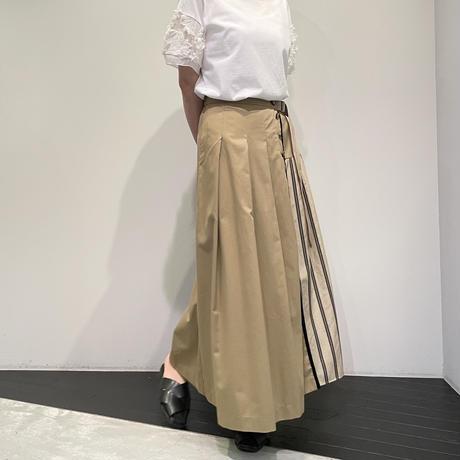 Lallia Mu 切替スカート ( ベージュ )
