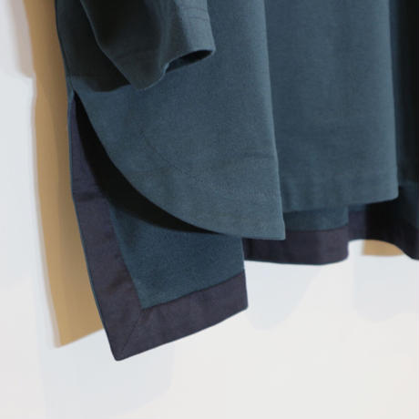 siim 高密度コットンプルオーバー( blue green, c.gray)