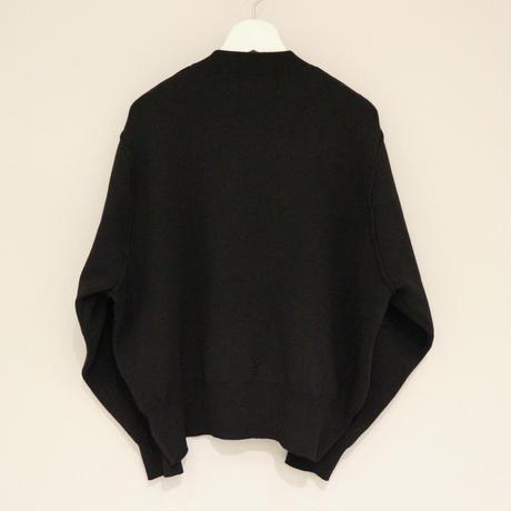 THOMAS MAGHPIE フロッキープリントニット(black)