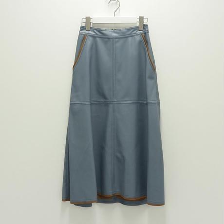 Lallia Mu エコレザースカート ( ブルー/ブラック )