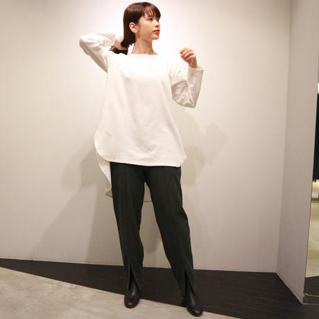 NOWYOUKNOW ピンタックカットソー(off white)