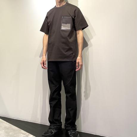 NULABEL IDポケットTシャツ ( イエロー/チャコール )
