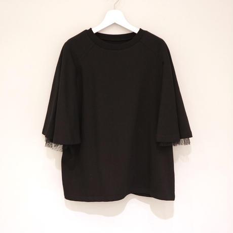 tranoi テントスリーブカットソー ( ホワイト/ブラック )