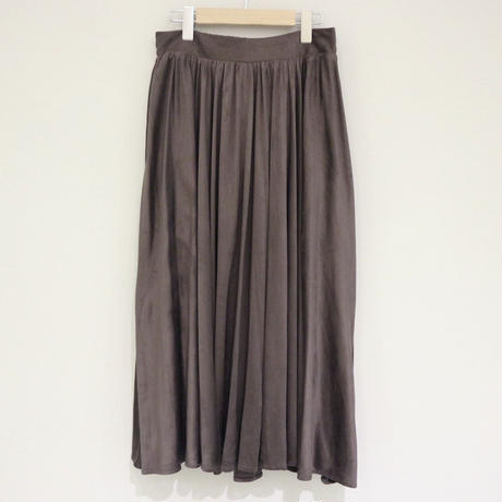 NOWYOUKNOW フェイクスウェードスカート(gray)