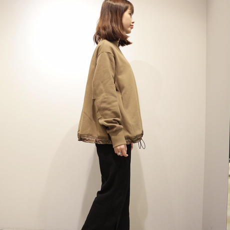 tranoi フレアスウェット(brown)