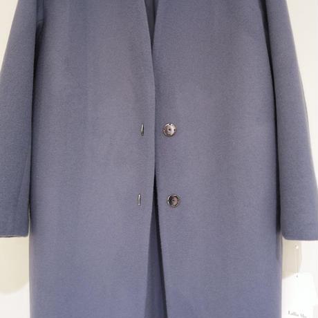 Lallia Mu ノーカラーコート(blue)