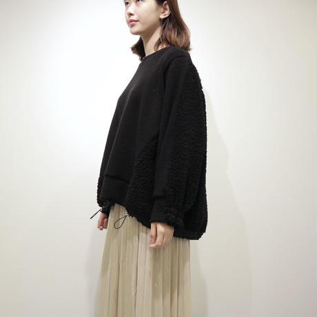 tranoi ボアプルオーバー(ivory,black)