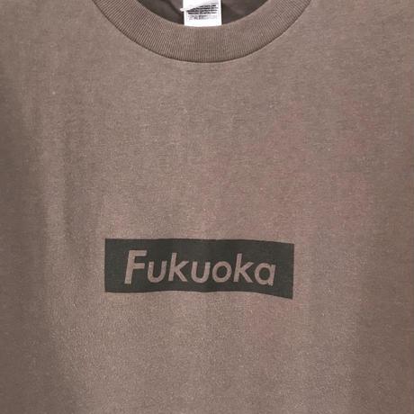 FUKUOKA ロゴT チャコールグレー