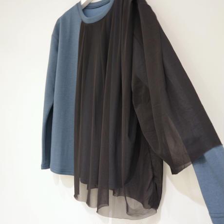 tranoi チュールプルオーバー (blue, black)