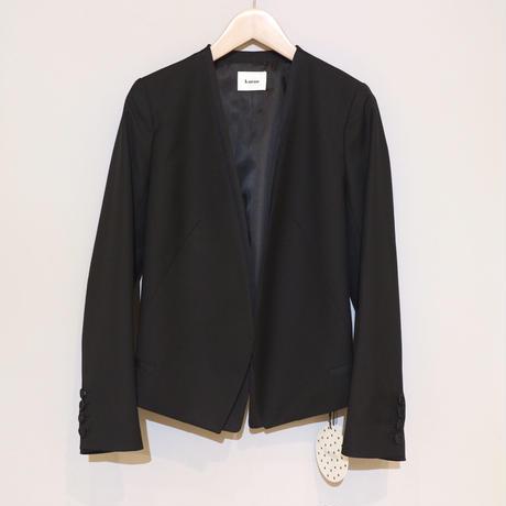 kaene ノーカラージャケット ( ブラック )