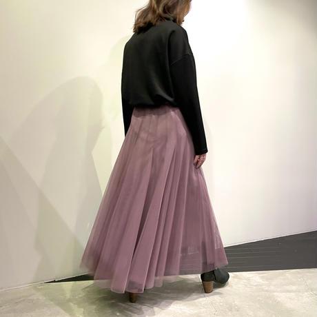 tranoi チュールスカート ( スモークパープル/ライトグレー/カーキ )