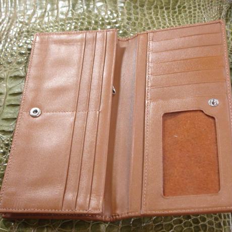 2つ折長財布 正真正銘本物 オストリッチ(ダチョウ皮革) W0003