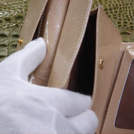 3つ折財布 正真正銘本物パイソン(蛇皮革) W0010