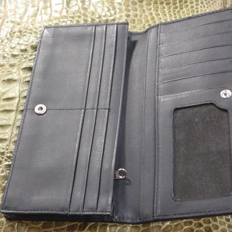 2つ折長財布 正真正銘本物 オストリッチ(ダチョウ皮革) W0002