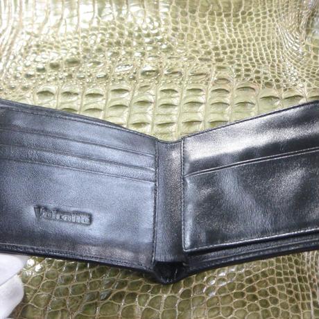 2つ折財布 正真正銘本物クロコダイル W0004