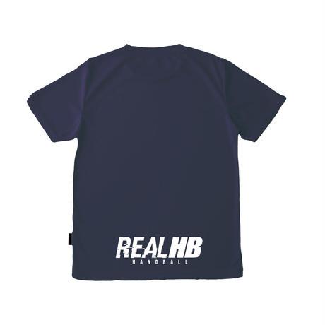 リサイクルポリエステル ドライTシャツ ネイビー