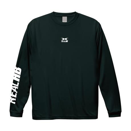 バック中抜きロゴ ドライロングTシャツ ブラック