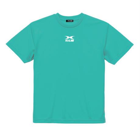 ビッグロゴ  ドライTシャツ パステルターコイズ