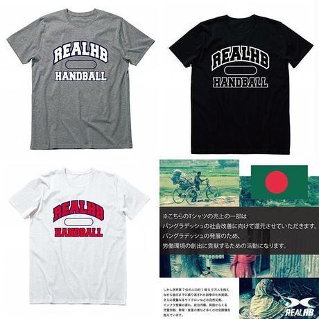 バングラデッシュサポート カレッジ Tシャツ 杢グレー