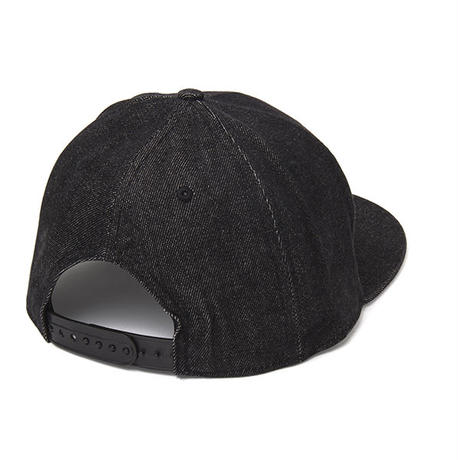 Denim Flat Visor Cap BLACK