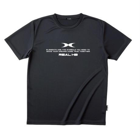 リサイクルポリエステル ドライTシャツ ブラック