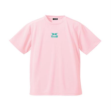 ビッグロゴ  ドライTシャツ パステルピンク