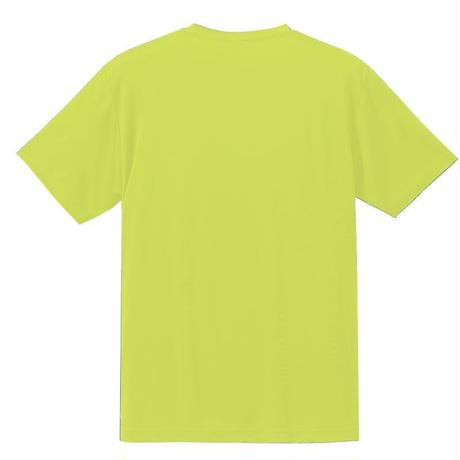 キッズ HAND スマイル ドライメッシュTシャツ 蛍光イエロー